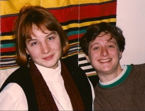 Rebecca (left) and me in 1993?